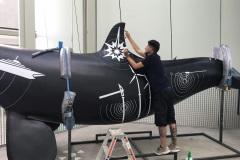 Folierung Wal fürs Ozeaneum Stralsund